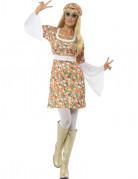 Disfraz de hippie de flores para mujer