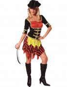 Disfraz de pirata rojo y amarillo