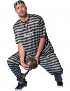 D�guisement prisonnier noir et blanc homme