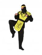 Schwarz-gelbes Ninja-Kost�m f�r Herren