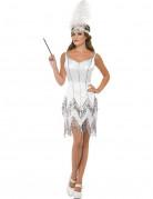 Disfraz charleston blanco mujer