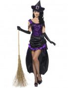 D�guisement sorci�re violette sexy femme Halloween