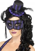 Anche ti piacer� : Kit cappello e maschera burlesque viola e nero donna