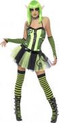 Disfraz de elfo verde mujer