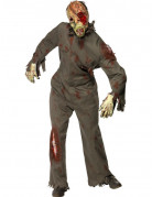 D�guisement zombie masque � gaz adulte Halloween