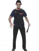 D�guisement zombie SWAT homme Halloween