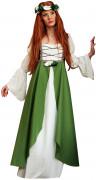 Disfraz medieval verde mujer