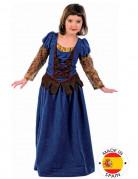 Disfraz medieval azul ni�a