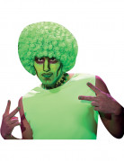 Peluca afro verde fluorescente adulto