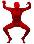 Rotes, hautenges Kost�m f�r Erwachsene