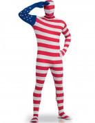 Hautenges USA-Flaggen-Kost�m f�r Erwachsene