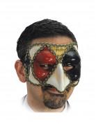Demi masque v�nitien arlequin adulte