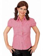 Chemise � carreaux rouge et blanc femme