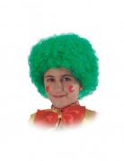 Peluca verde de payaso ni�o