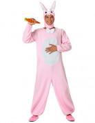 Wei�-rosa Hasen-Kost�m f�r Erwachsene
