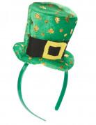 Diadema de mini sombrero San Patricio adulto