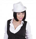 Chapeau de gangster blanc adulte