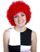 Perruque clown afro rouge adulte