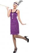 Disfraz a�os 20 charleston violeta mujer