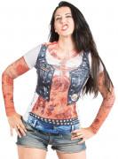 Vous aimerez aussi : T-Shirt rockeuse tatouages femme