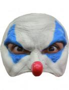 Demi masque clown bleu homme