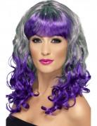 Vous aimerez aussi : Perruque boucl�e verte et violette femme