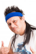 Ihnen gefällt sicherlich auch : Blaues Mullet On The Go� Vokuhila-Stirnband