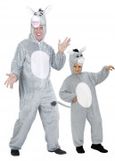 Disfraz de pareja de asnos padre e hijo