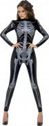 D�guisement squelette noire sexy femme Halloween