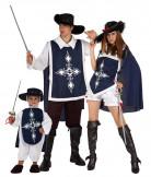 Disfraz de familia mosquetera