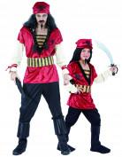 Disfraz de pareja pirata padre e hijo