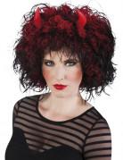 Peluca de diabla con cuernos mujer Halloween