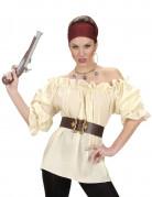 Chemise beige pirate femme