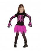 Disfraz esqueleto rosa ni�a Halloween