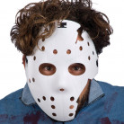 Masque hockey blanc adulte Halloween