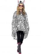 Zebra-Poncho f�r Erwachsene