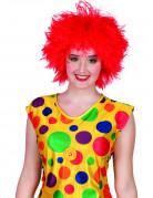 Perruque clown color�e rouge femme