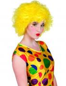 Perruque clown color�e jaune femme