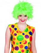 Perruque clown color�e verte femme