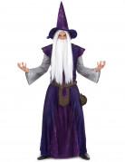 D�guisement mage sorcier violet adulte