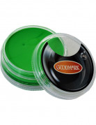 Maquillaje base acuosa verde