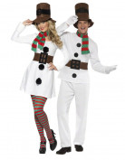 Disfraz de pareja mu�eco de nieve