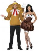 Disfraz humor�stico de pareja Navidad