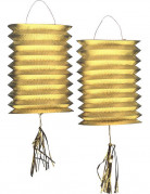 Vous aimerez aussi : 2 Lampions m�talliques dor�s