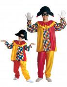 Disfraz de pareja arlequ�n padre e hijo