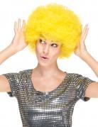 Perruque clown afro jaune adulte