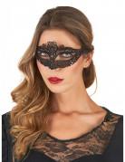 Masque dentellé noir femme