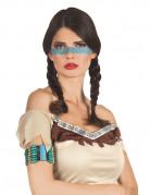 Tour de bras indien bleu femme