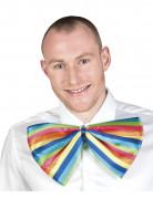Noeud papillon g�ant clown multicolore