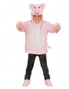 Veste à capuche cochon enfant